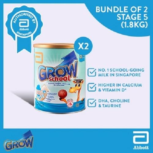 Review Grow Sch**l Stage 5 Milk Formula 1 8Kg Bundle Of 2 Grow On Singapore