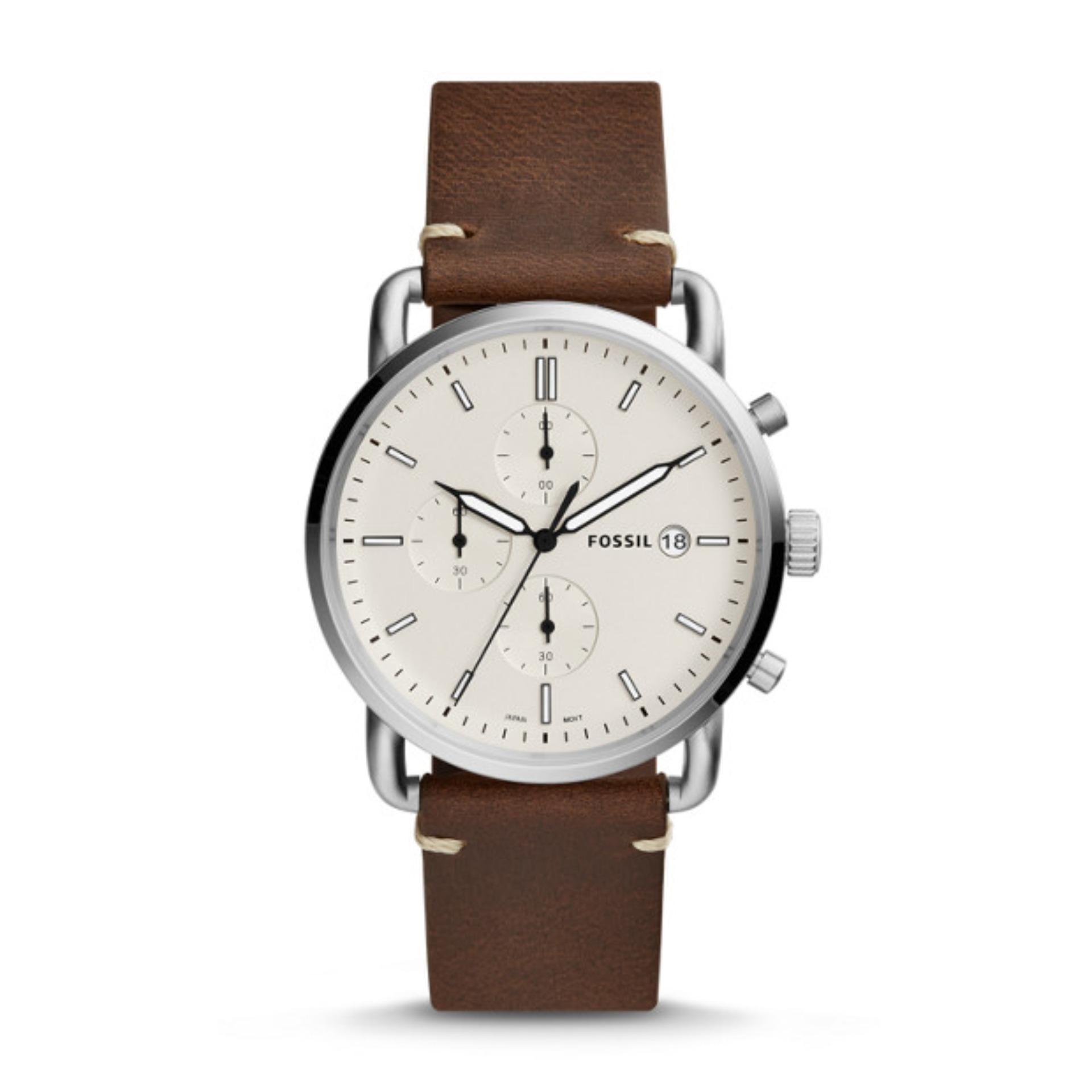 Fitur Fossil Ch2891 Coachman Chronograph Tachymeter Brown Leather Fs5068 Fs5402 The Commuter Mens Watch
