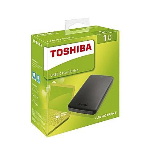 List Price Toshiba 2Tb 1Tb Ext Hdd Canvio Usb 3 Portable Hard Drive Black External Harddisk Hard Disk Select The Capacity In The Option Toshiba