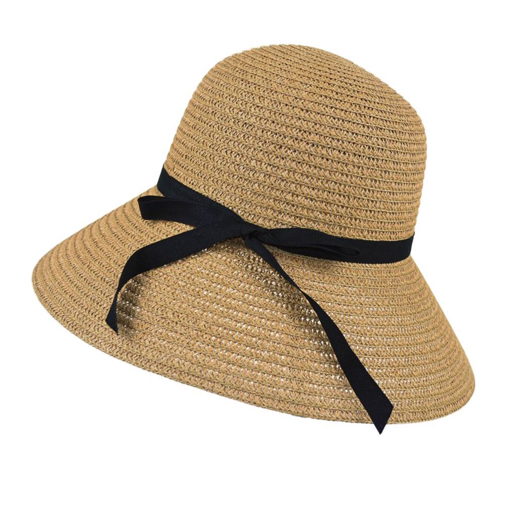 Sale Women Wide Brim Beach Sun Hat Straw Floppy Elegant Bohemia Cap Khaki Intl Vakind On China