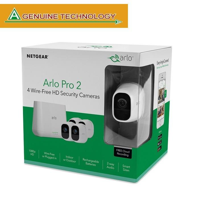 Discount Netgear Arlo Pro 2 Smart Security System With 4 Cameras Pack Vms4430P Netgear