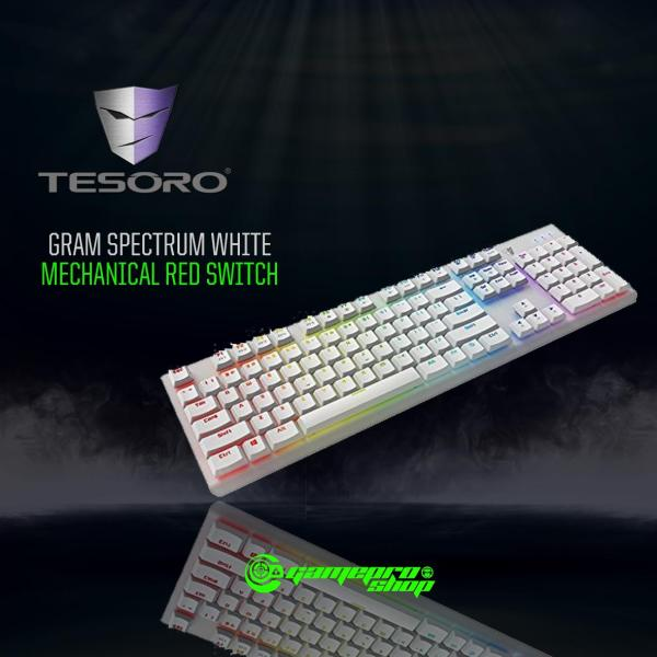 TESORO GRAM SPECTRUM WHTE MECHANICAL RED SWITCH Singapore