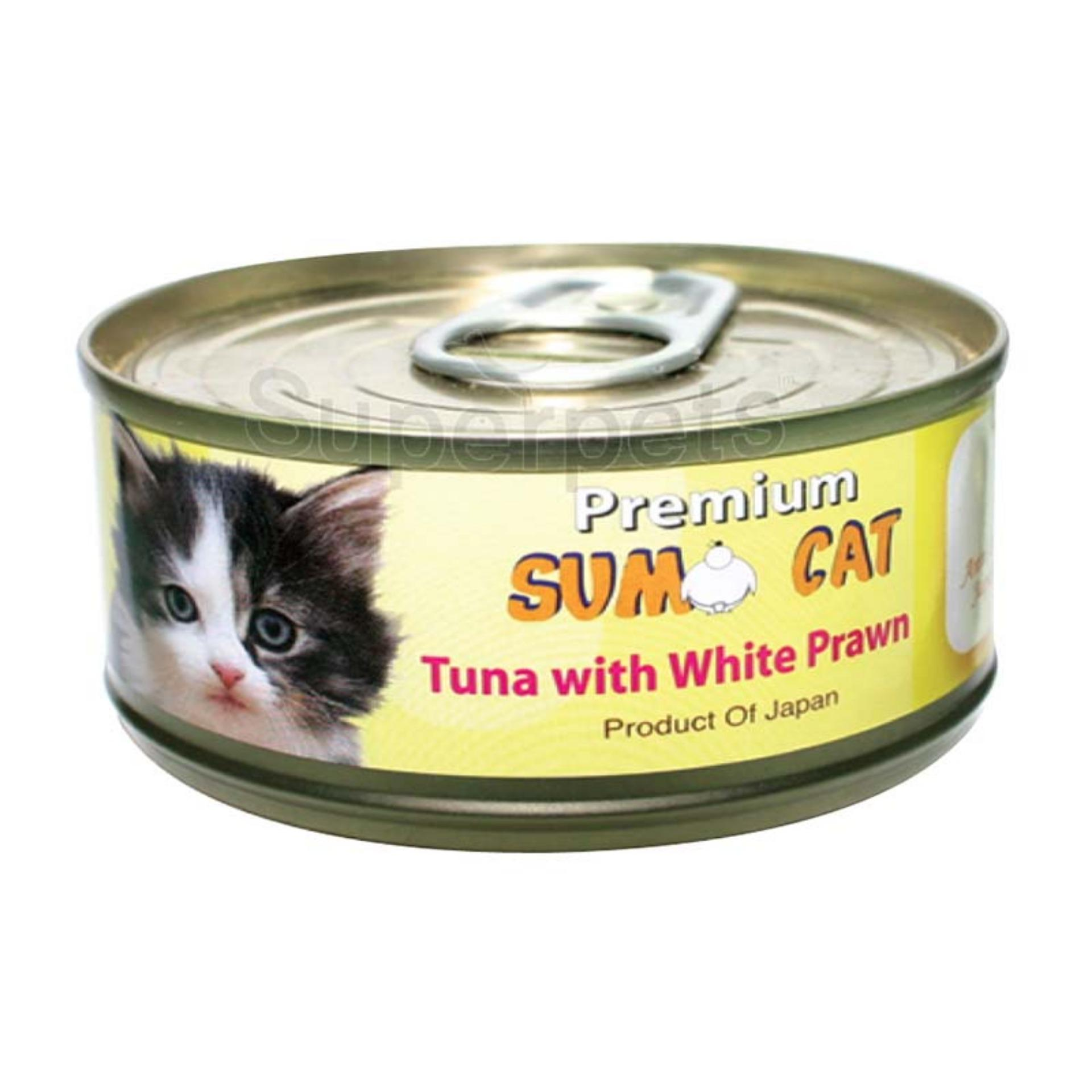 Sale Sumo Cat Tuna With White Prawn 80G 24Pcs Sumo Branded