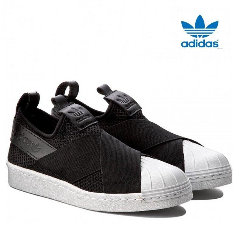 Adidas New Originals Superstar Slip-on BY2884 Black/White 100% Original