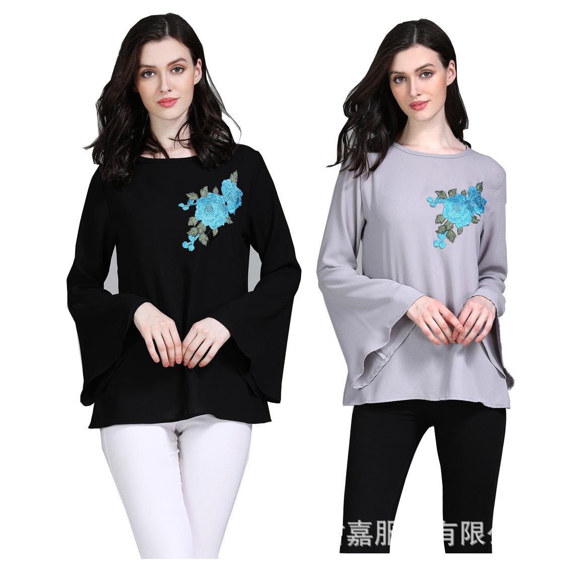 3646f9151656f9 New fashion Arab Muslim women's loose long-sleeved shirt Islamic prayer  clothes
