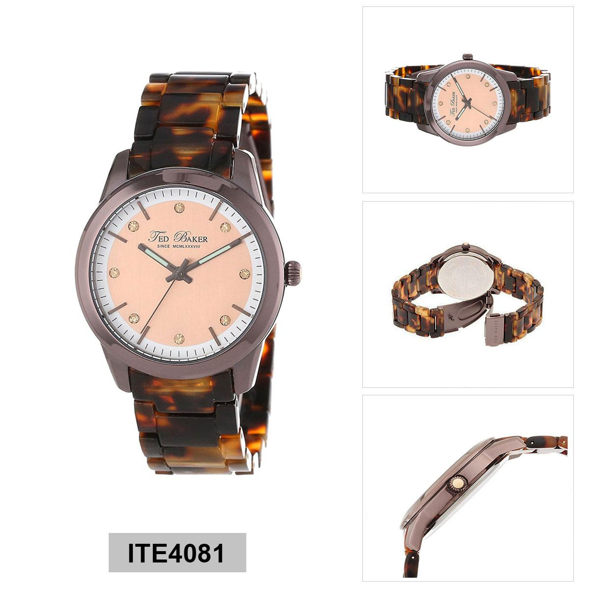 Ted Baker Watch Multicolored Stainless Steel Case Plastic Strap Ladies Ite4081 Lower Price