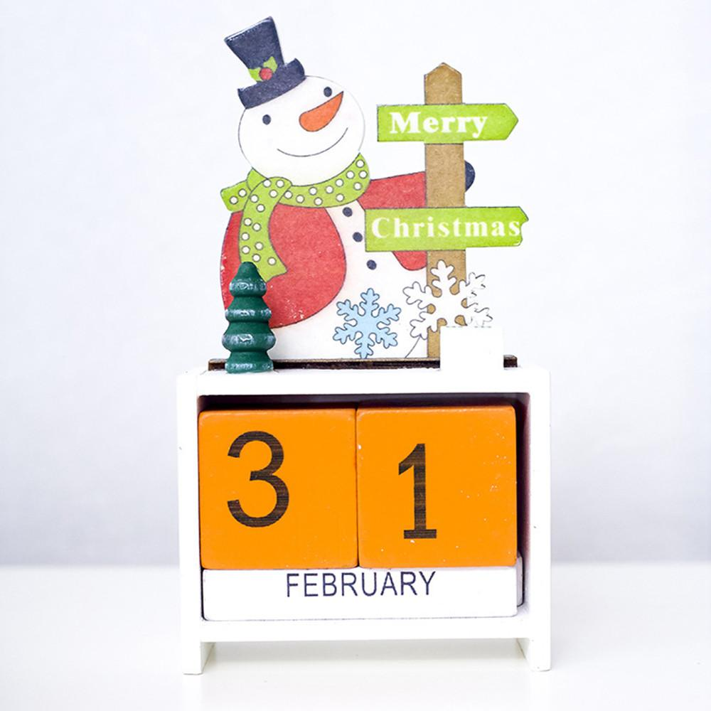 【Free Shipping】christmas Mini Kalender Kayu Xmas Ornamen Kriya Dekorasi Rumah Hadiah