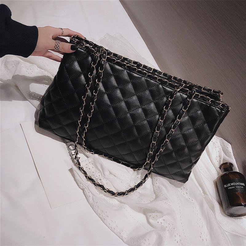 2018 model baru tas wanita casual Kapasitas Besar tas tangan Gaya Korea fashion populer pola berlian ...
