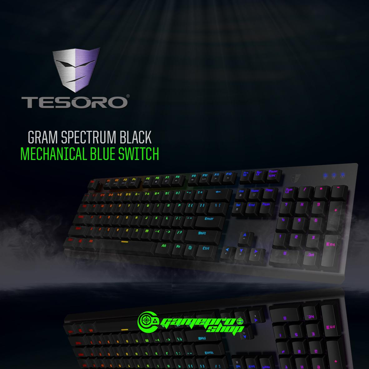 TESORO GRAM SPECTRUM BLACK MECHANICAL BLUE SWITCH Singapore
