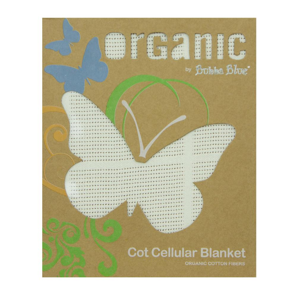 Bubba Blue Organic Cot Cellular Blanket