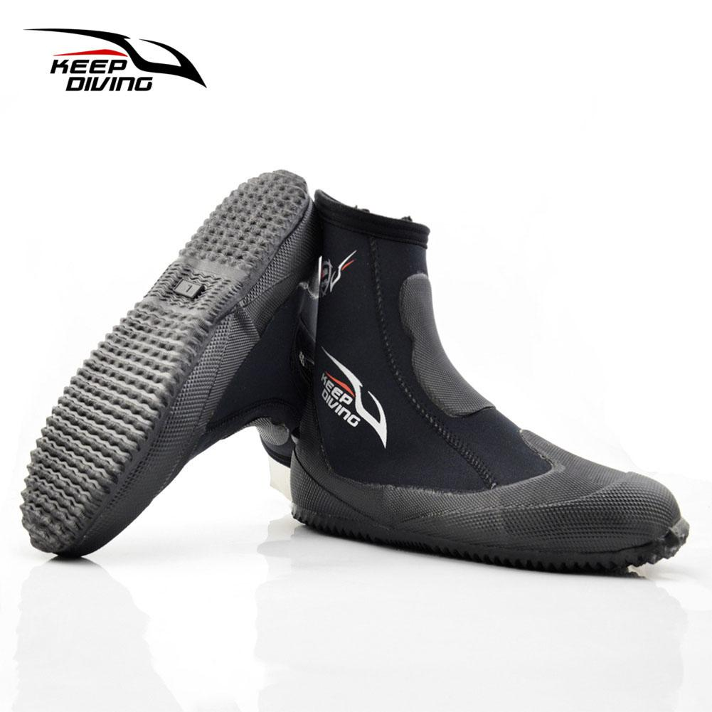 North Star 5mm Neoprene Scuba Diving Boots Water Shoes Winter Cold Proof High Upper Warm Fins Spearfishing Shoes By The North Star