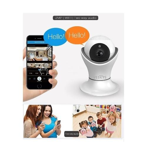Sale Veskys 1080P 2 0Mp 360° Ip Camera Indoor With Ir Cut Built In Speaker Built In Microphone Day Night Motion Detection Remote Access Plug And Play Veskys Wholesaler