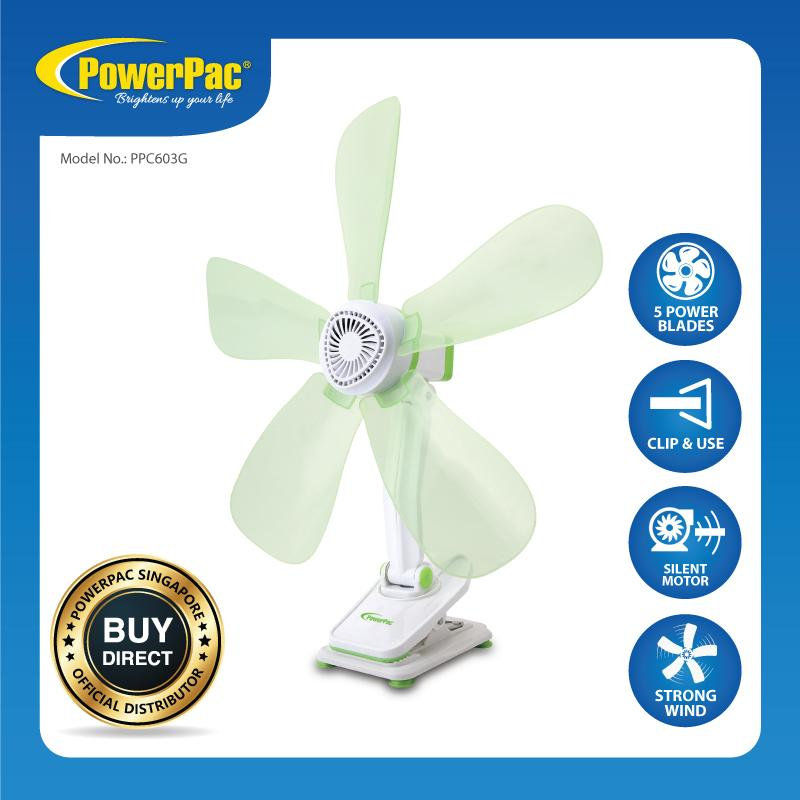 PowerPac Electric Clip Fan with Silent motor (PPC603G) Singapore