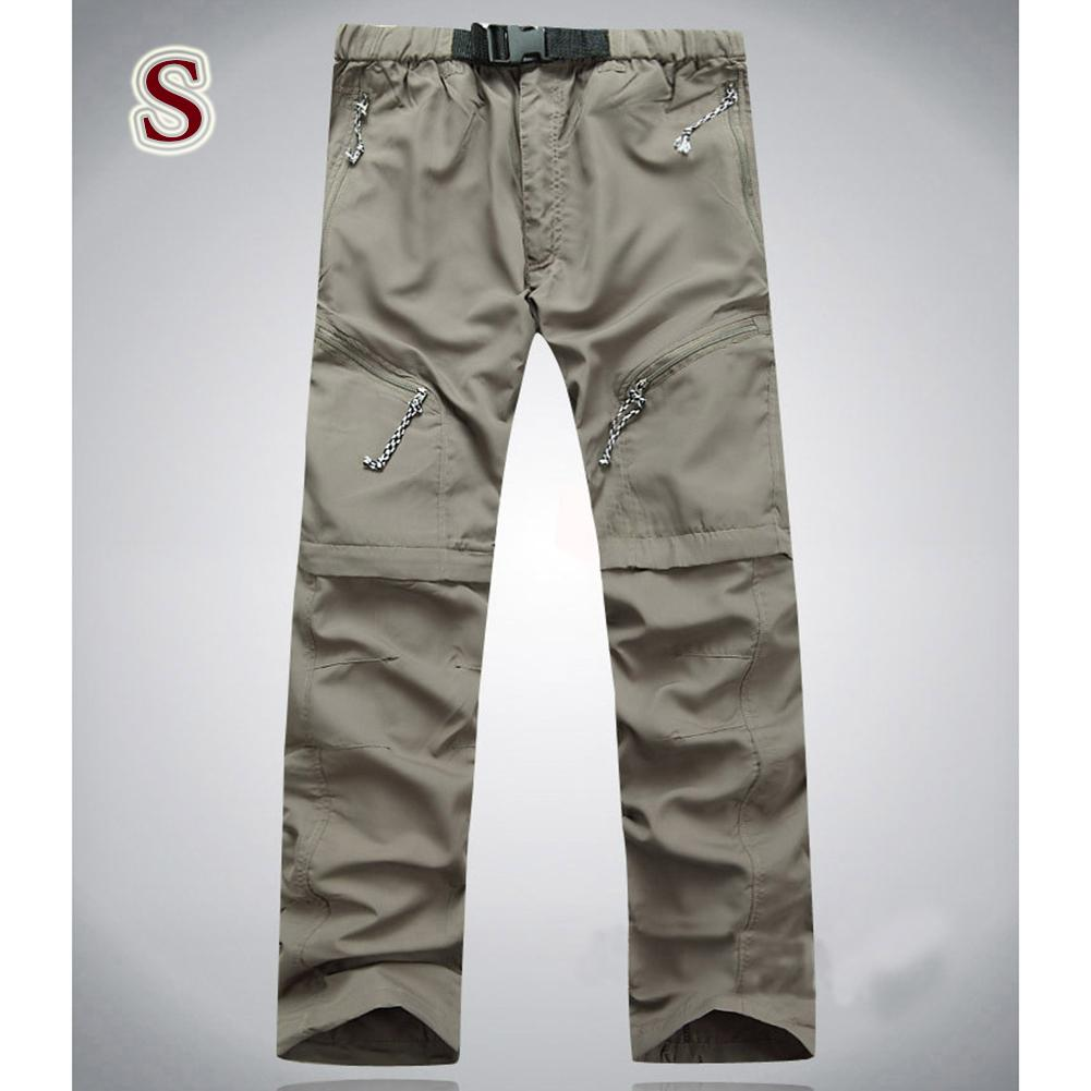 How Do I Get Men And Women Detachable Quick Dry Hiking Pants Sports Trousers For Outdoor Camping Trekking Color Khaki Light Board Without Logo Size S Lucky G Intl