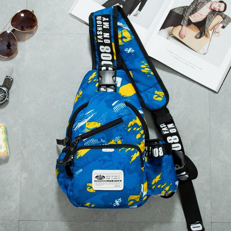 YUFANG tas dada Pria Gaya Korea pasang Casual kain kanvas tas selempang tas kecil ransel olahraga luar ruang tas bahu tunggal Tas Pria