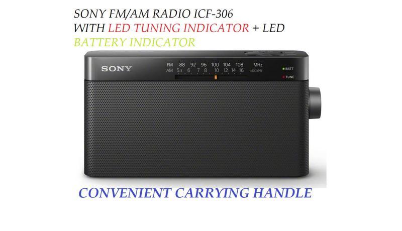 SONY PORTABLE FM/AM RADIO  { ICF- P306 } Singapore
