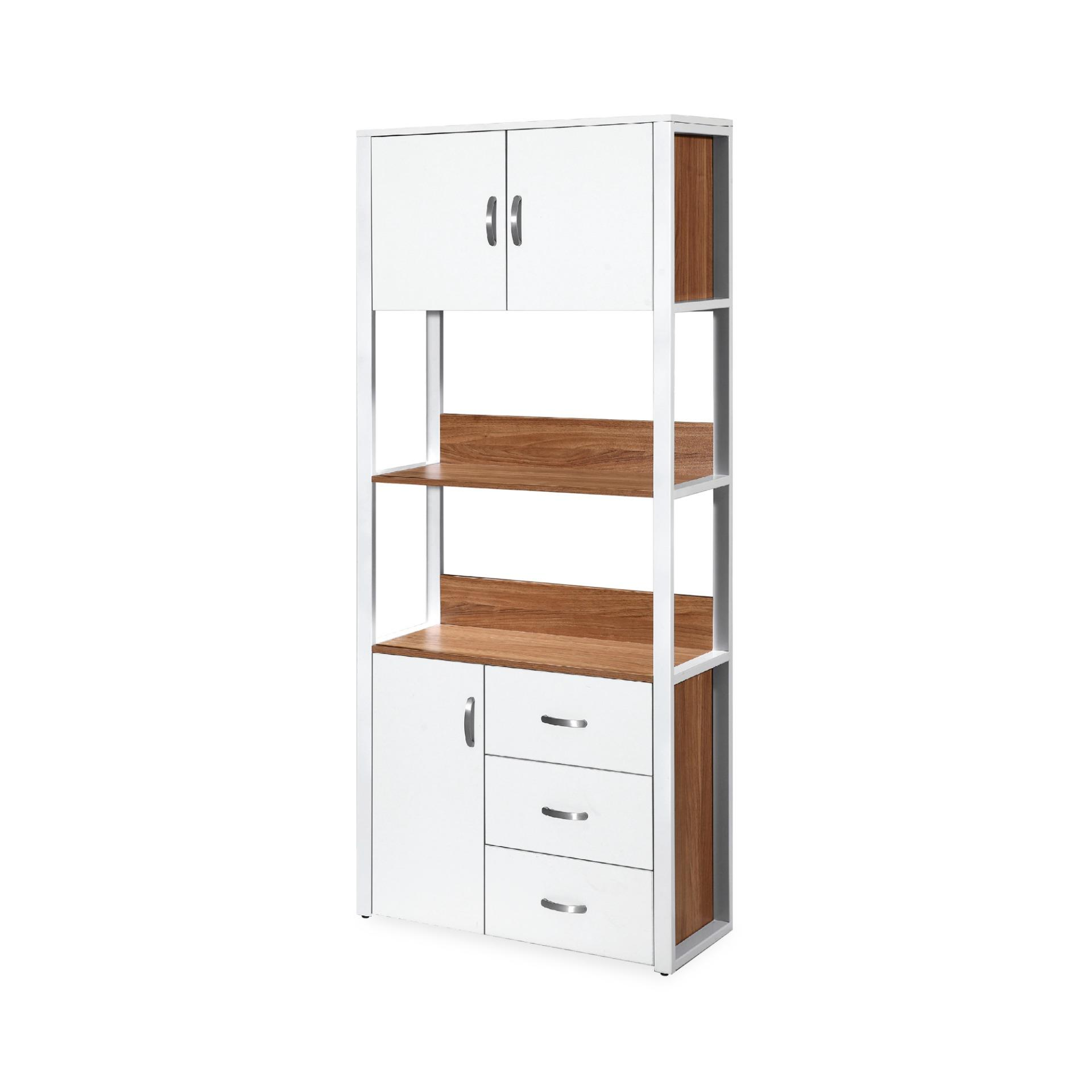 Amando Book Cabinet With Storage Shelves (FREE DELIVERY)(FREE ASSEMBLY)