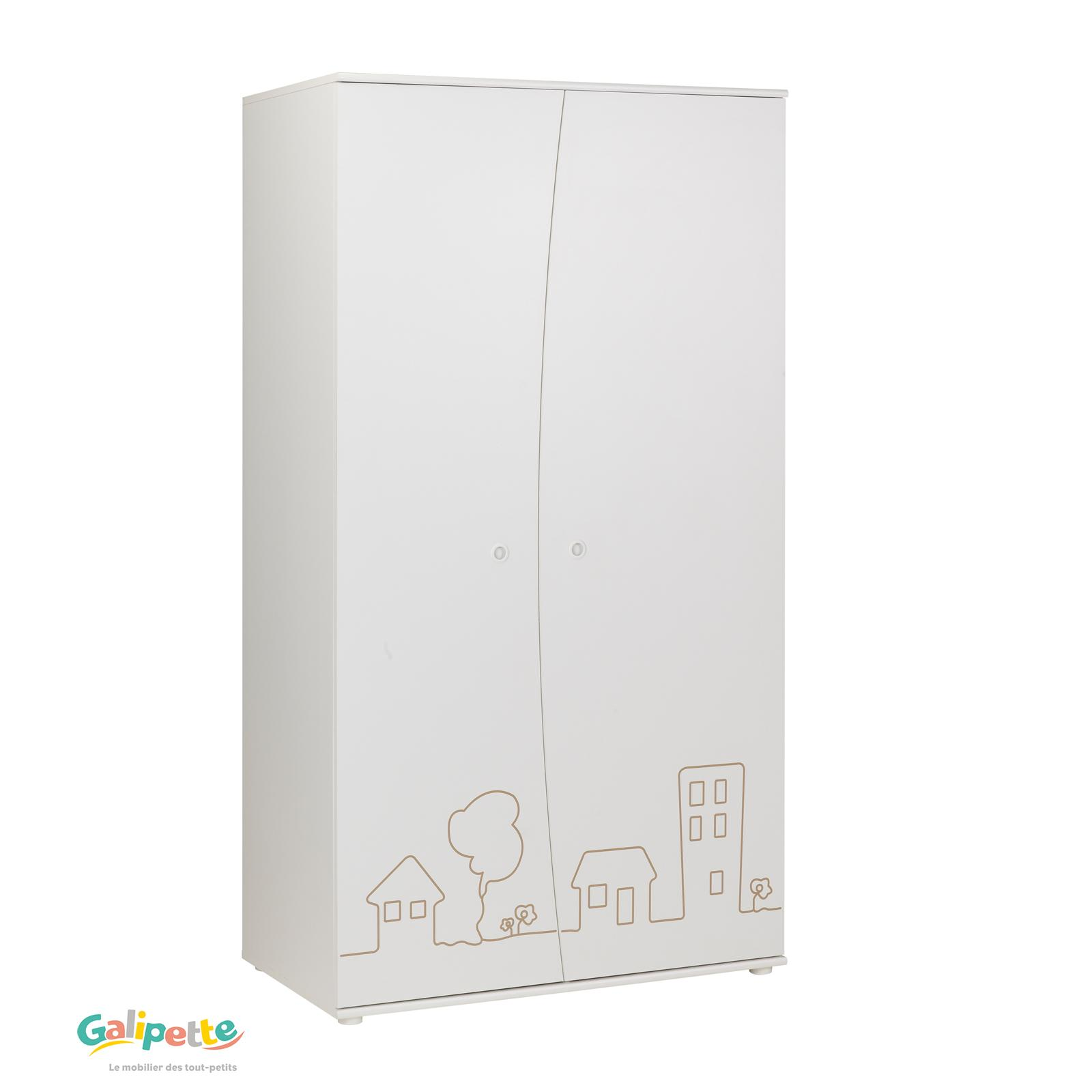 Galipette Little Town Wardrobe 2 Doors