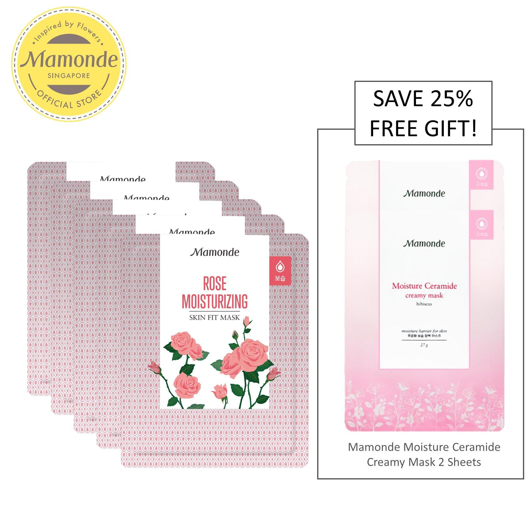 How Do I Get Mamonde Skin Fit Mask Rose Moisturizing 5 Sheets Set Exclusive