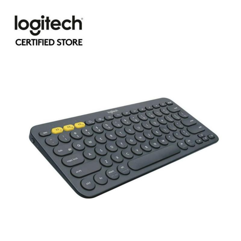 Logitech K380 Black Slim Multi-Device Bluetooth Keyboard (iOS, Android, OSX, iPhone) with Logitech FLOW Technology Singapore