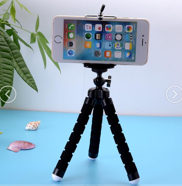 Tempat Ponsel Gurita Fleksibel Braket Tripod Selfie Memperluas Berdiri Gunung Monopod Styling Aksesoris untuk Kamera Ponsel