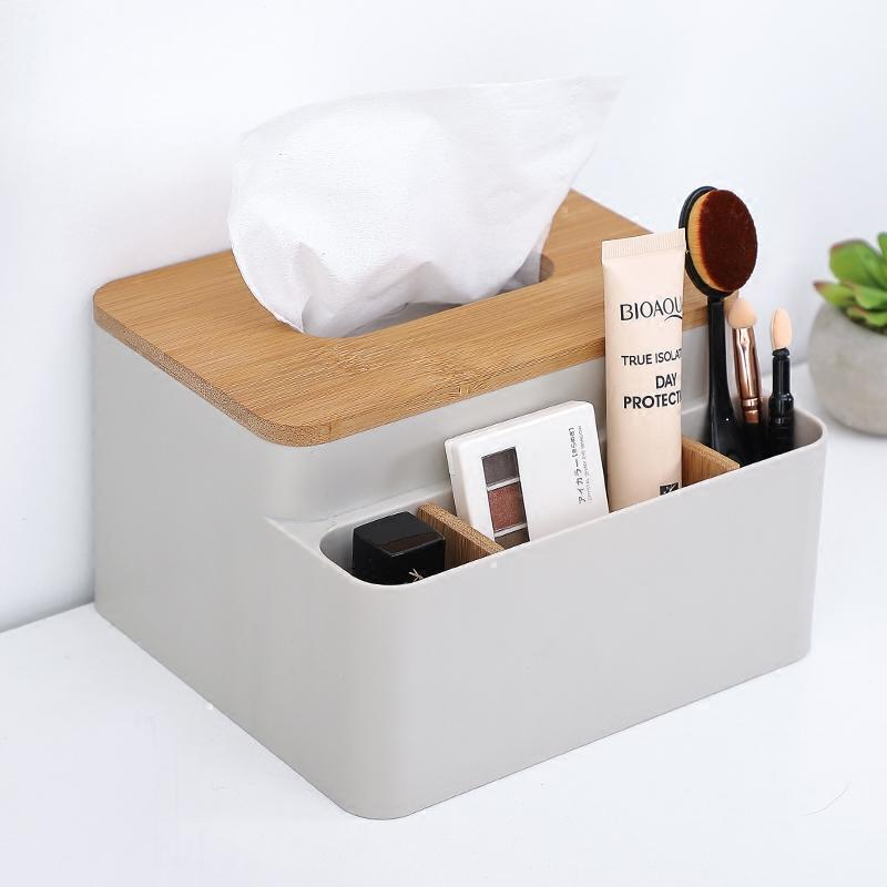 NC living room coffee table bamboo wood paper extraction box tissue box