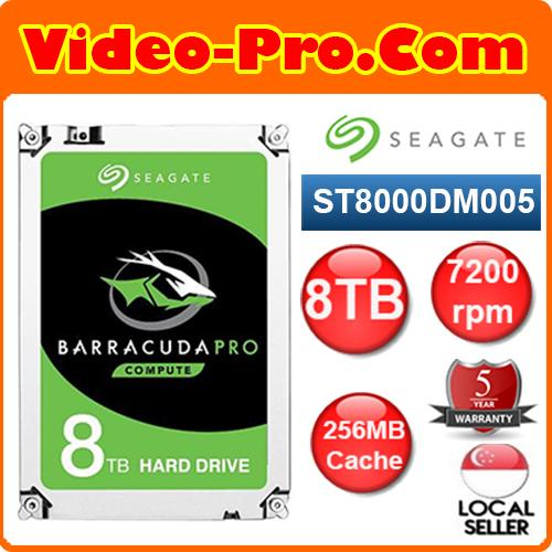 Seagate ST8000DM005 8TB BarraCuda 3 5inch SATA3 Hard Disk Drive 7200rpm  256MB Cache 2 Year Warranty Singapore