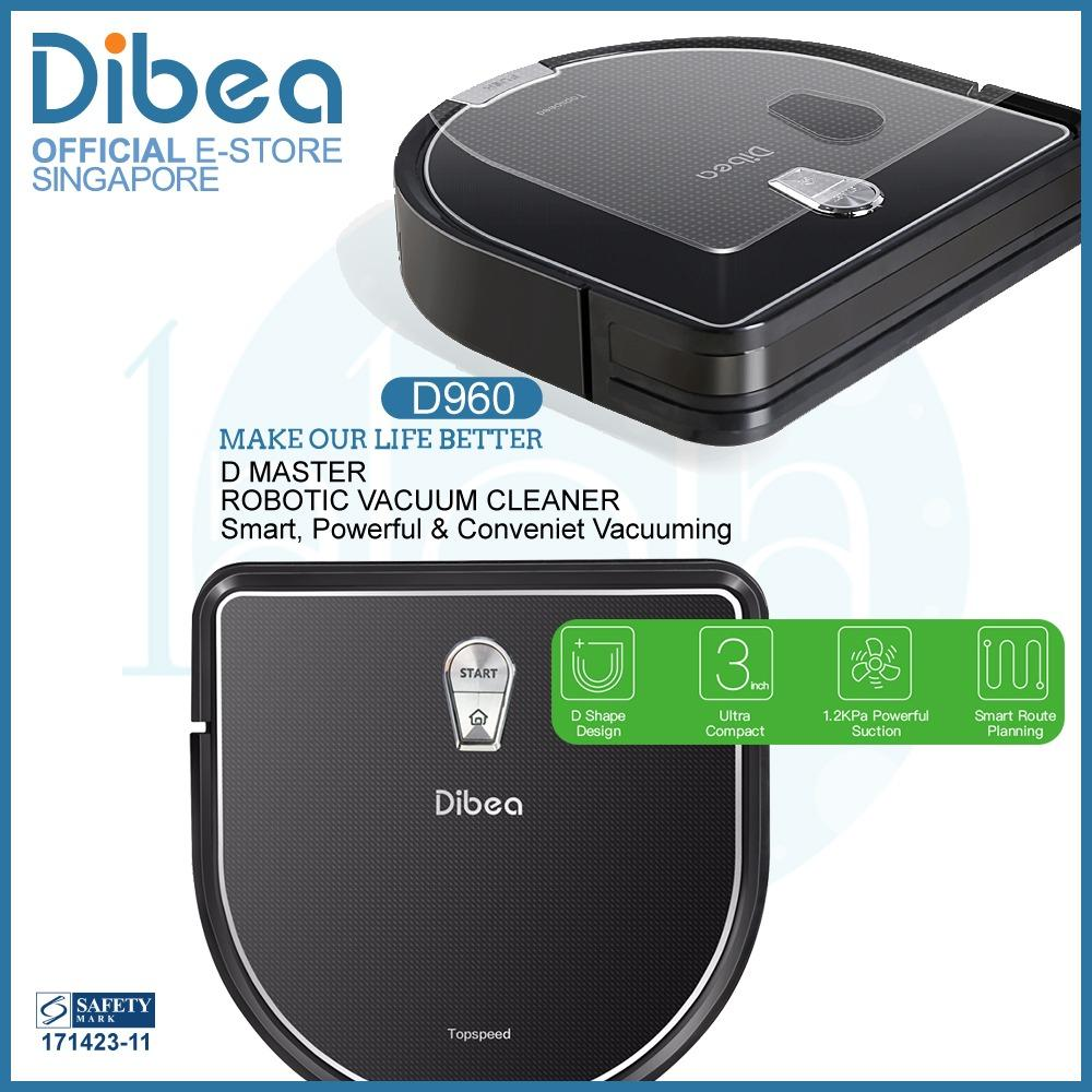 Where Can You Buy Official Dibea Singapore D960 Robot Vacuum Cleaner Water Tank Wet Mopping