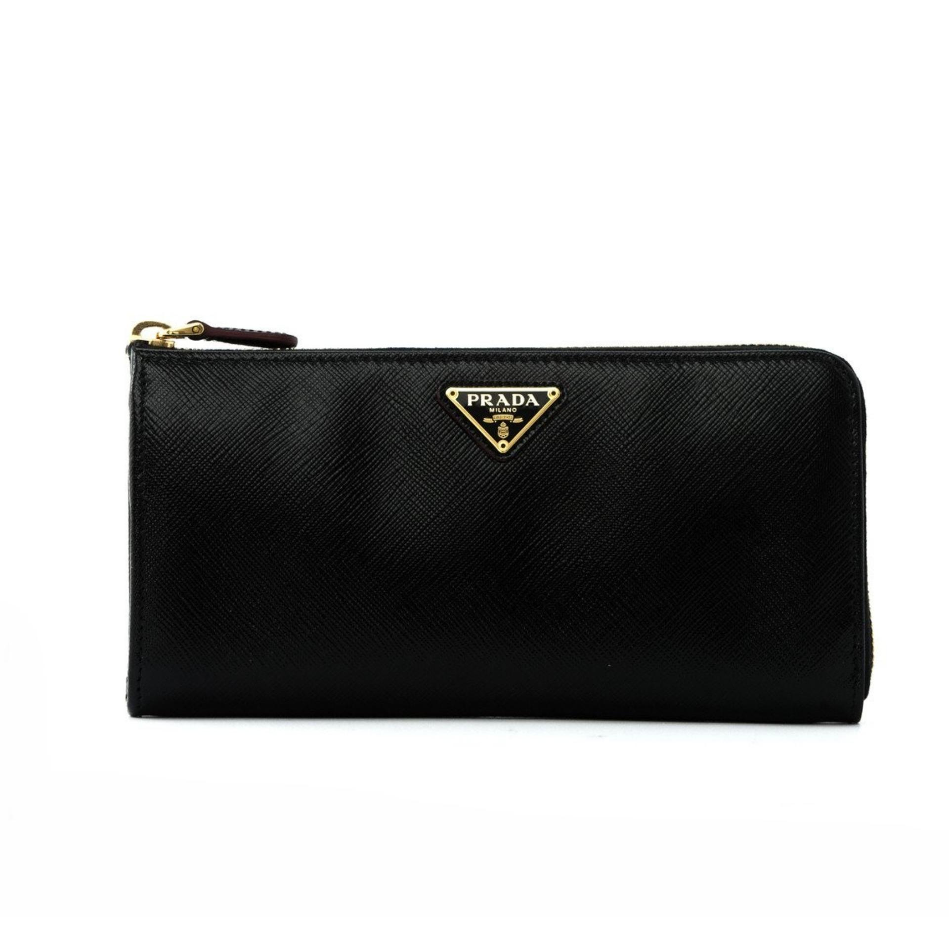 Wallets - Wallet With Flap Saffiano Leather Black - black - Wallets for ladies Prada PX6qN1