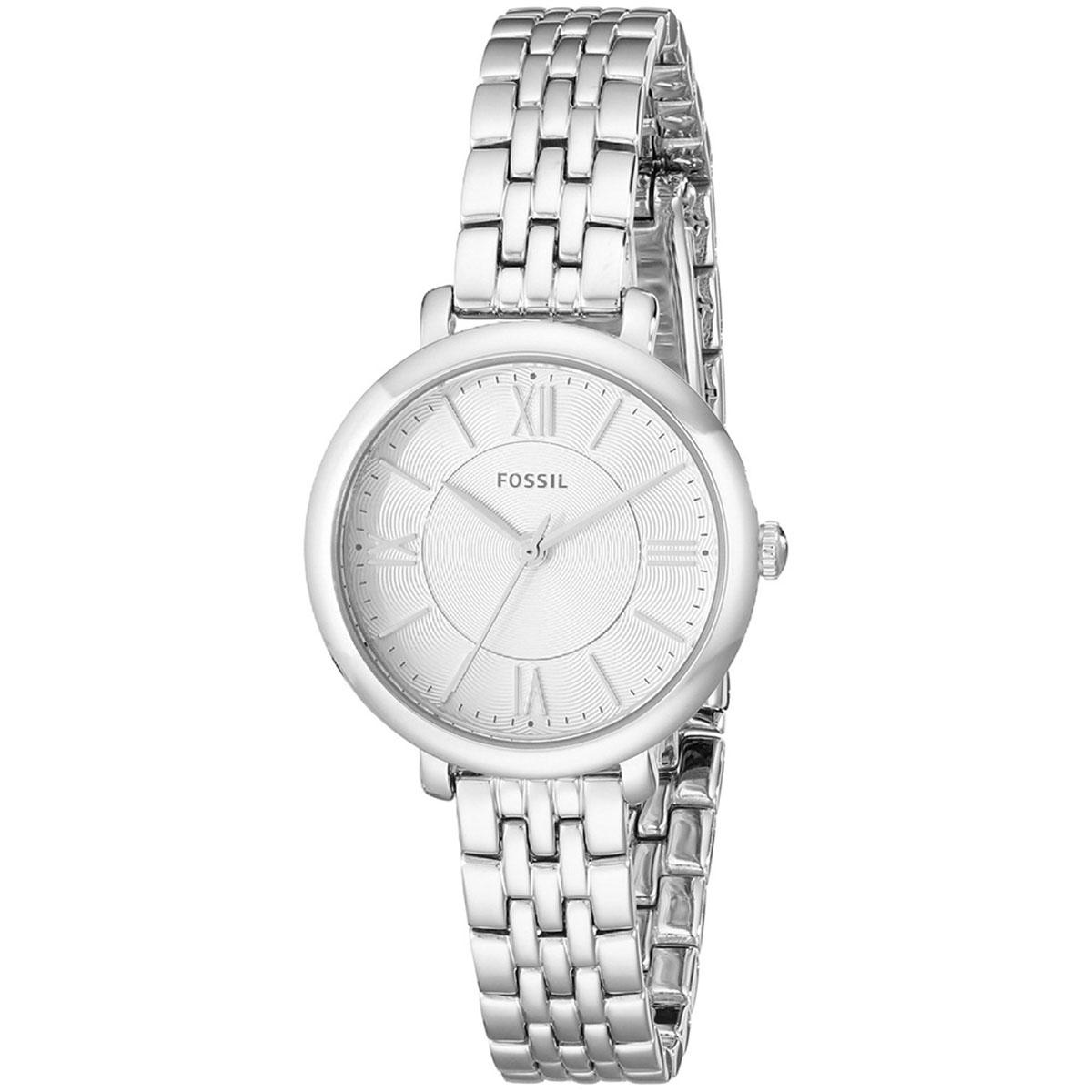 Price Comparison For Fossil Watch Jacqueline Silver Stainless Steel Case Stainless Steel Bracelet Ladies Es3797