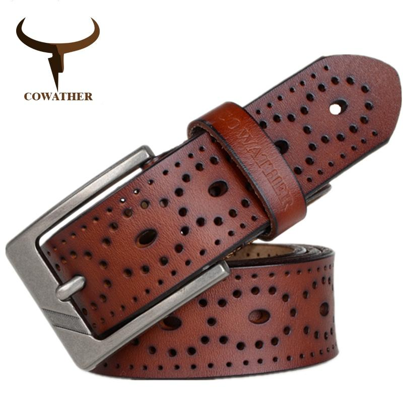Cowather Men Reversible Belt 100 Top Cow Leather Dress Belts For Men Jeans Pin Buckle Waist Band Male Belt Coffee Trims To Cut Coupon Code