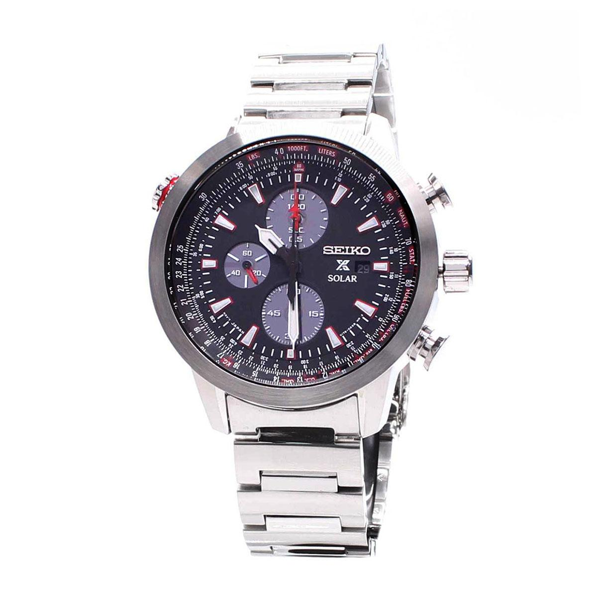 Latest Seiko Watch Prospex Solar Chronograph Silver Stainless Steel Case Stainless Steel Bracelet Mens Ssc349P1