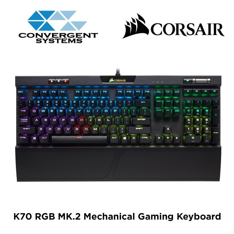 Corsair K70 RGB MK.2 Mechanical Gaming Keyboard - Cherry MX Red RGB Singapore