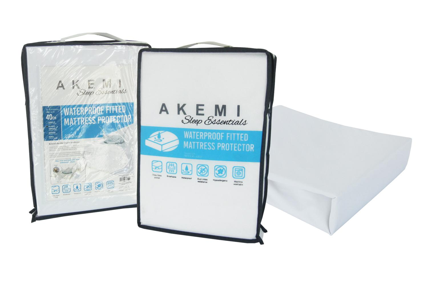 Sale Akemi Sleep Essentials Waterproof Fitted Mattress Protector Akemi Original