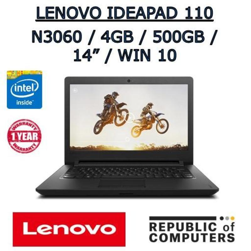 LENOVO IDEAPAD 110-14IBR N3060 / 4GB / 500GB / 14 / DVD-RW / WINDOW 10