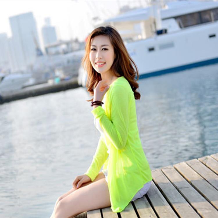 Musim Panas Wanita Korea Tabir Surya Pakaian Penyejuk Udara Musim Panas Mantel Lengan Panjang Tabir Surya Wanita Modal Syal Katun Pelangsing Lengan Panjang Mantel Tipis Pakaian Tabir Surya (tanpa Kancing Jaket Pendek) -Intl