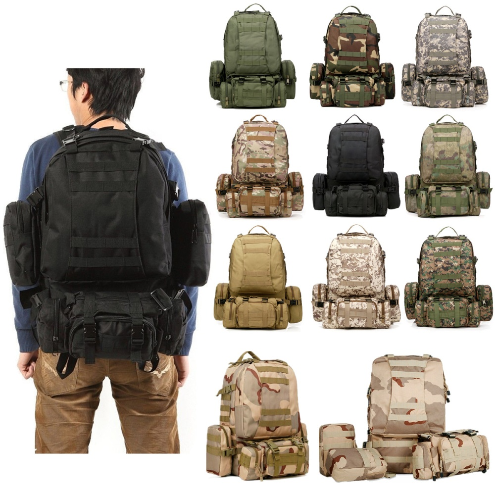 40L Molle 3D Tactical Outdoor Military Rucksack Backpack Bag Camping Hiking Camo