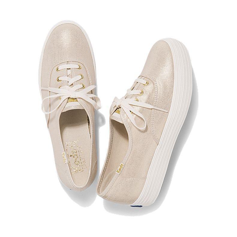 Keds Triple Metallic Linen Sneakers Wf58036 Sale