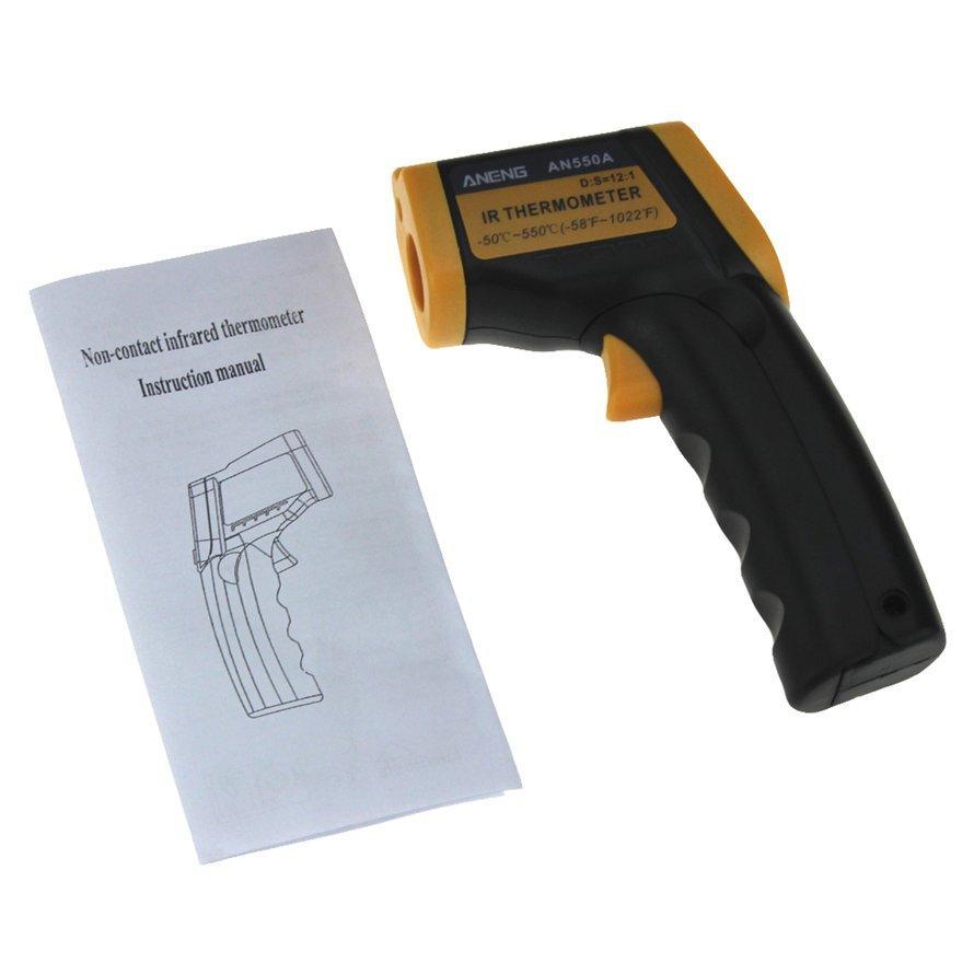 Osman Baru AN550A Termometer Inframerah LCD Tampilan Digital Laser Pengukur Temperatur