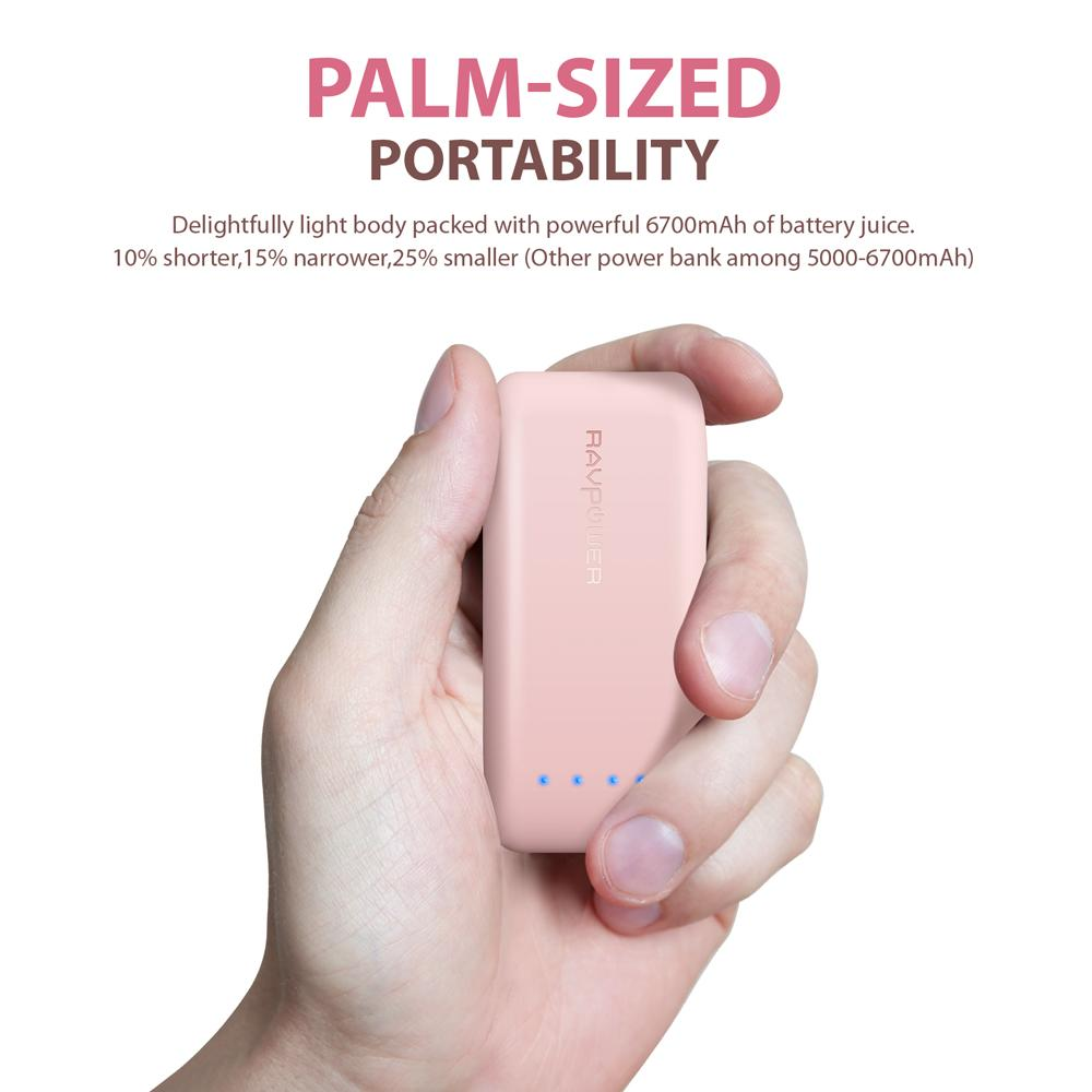 Where Can I Buy Ravpower 6700Mah Pocket Size Power Bank Pink Rp Pb060