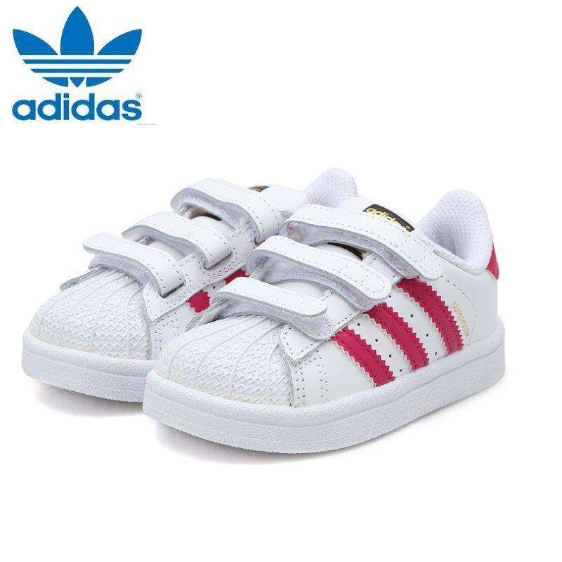 5d4d2fd6cecc5d Adidas Baby Girls Originals Superstar BZ0420 (White Pink) Toddler Shoes Baby