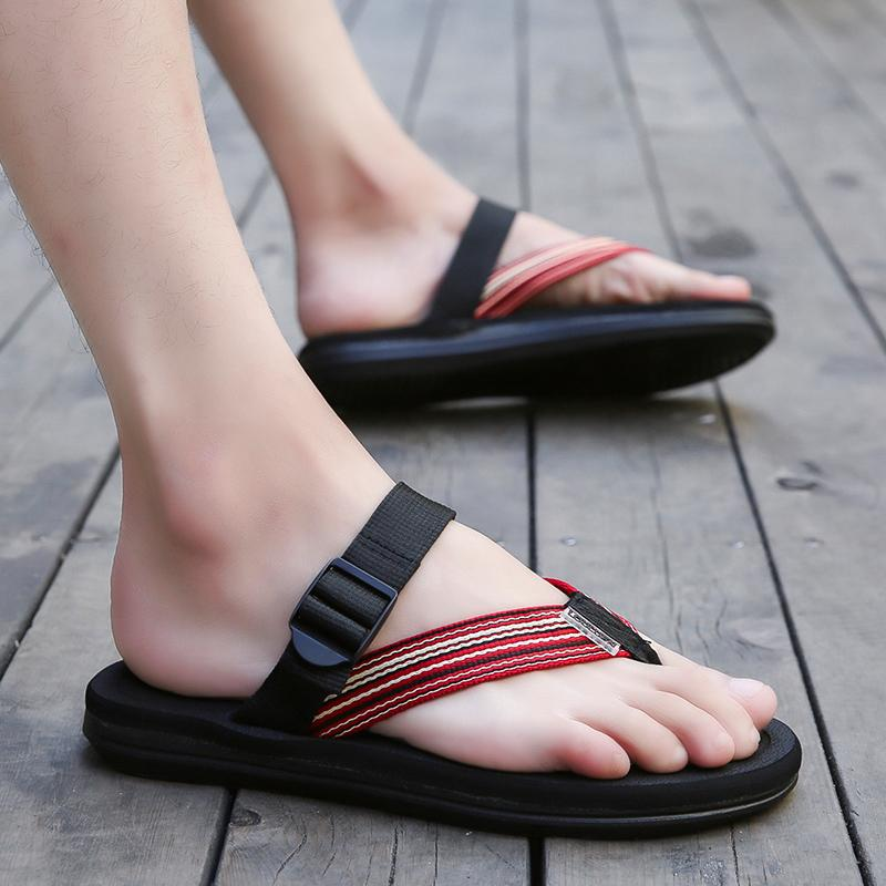 Compare Price Couple S Casual Men Summer Plus Sized Sandals Men Slippers On China