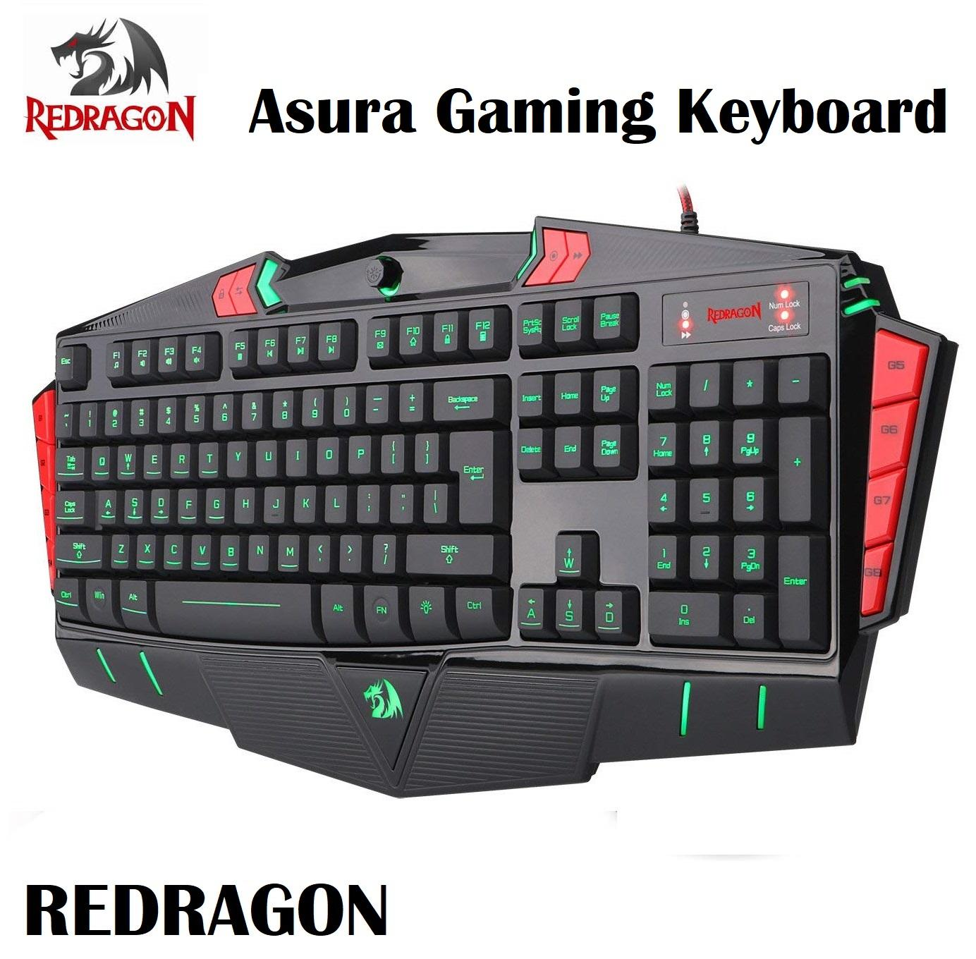 421dadcba43 Redragon Asura 7 Color LED Backlight Illuminated PC Computer Gaming  Keyboard Singapore