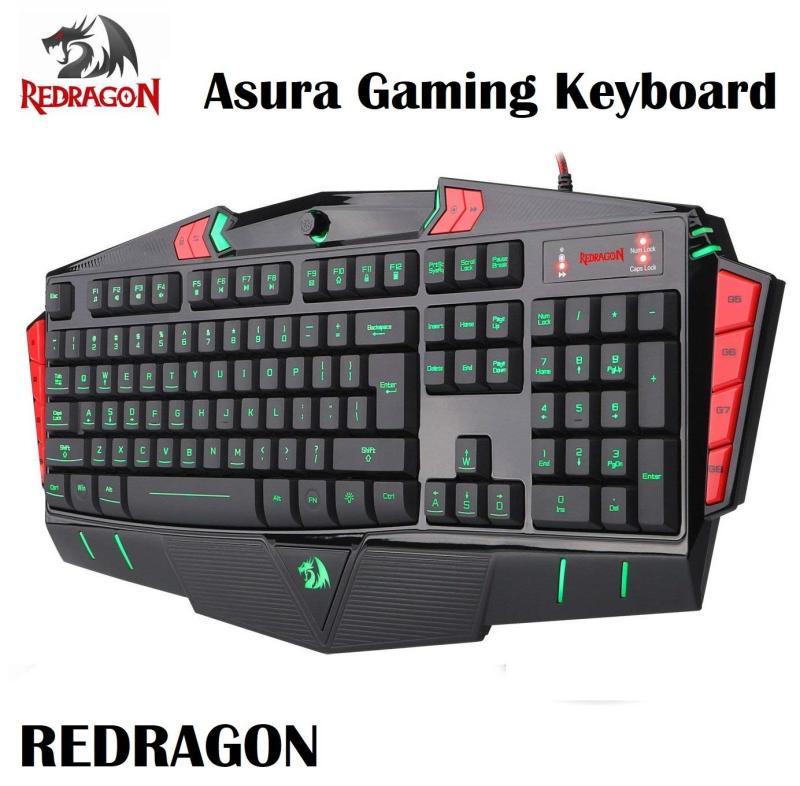 Redragon Asura 7 Color LED Backlight Illuminated PC Computer Gaming Keyboard Singapore