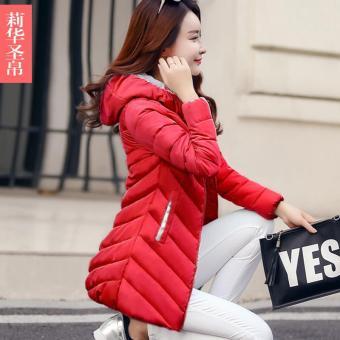 ... Pakaian musim dingin model baru 2018 ukuran besar hoodie membentuk  tubuh baju katun pakaian katun wanita model setengah panjang Gaya Korea  Jaket Katun ... 41c010cbbc