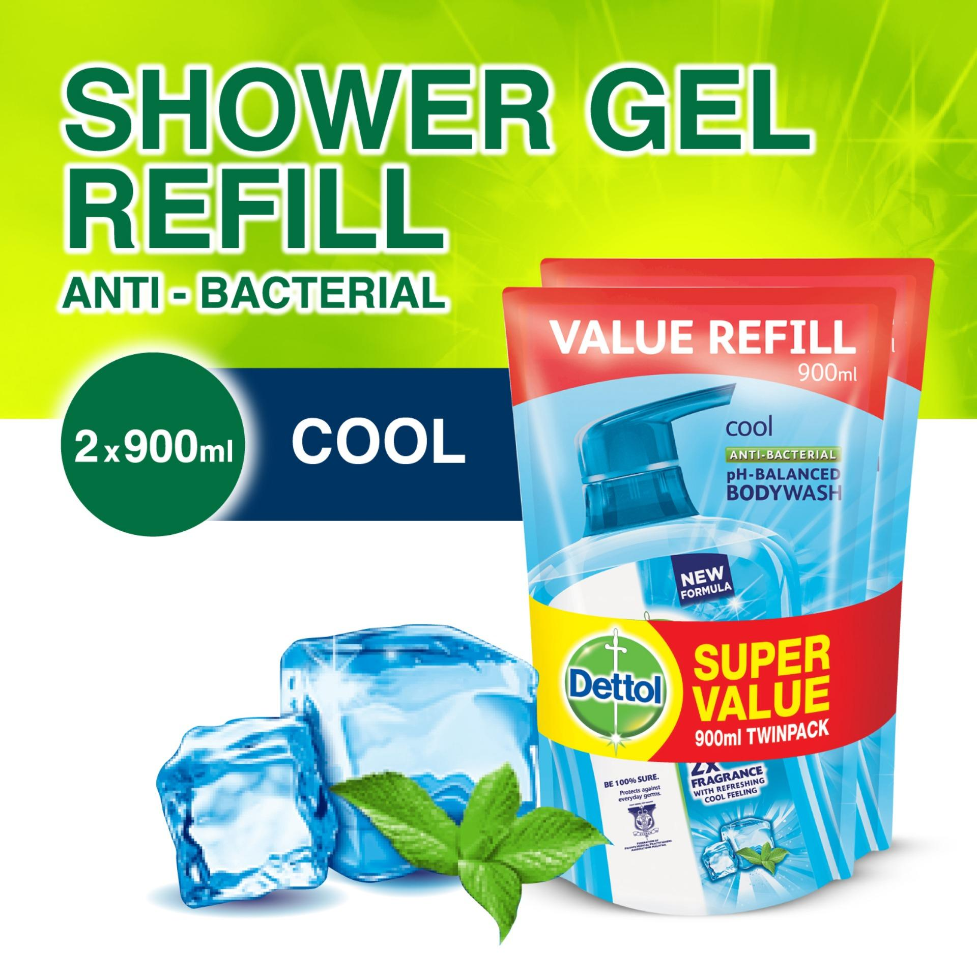 New Dettol Cool Body Wash Refill Pouch Twin Pack 900Ml X 2