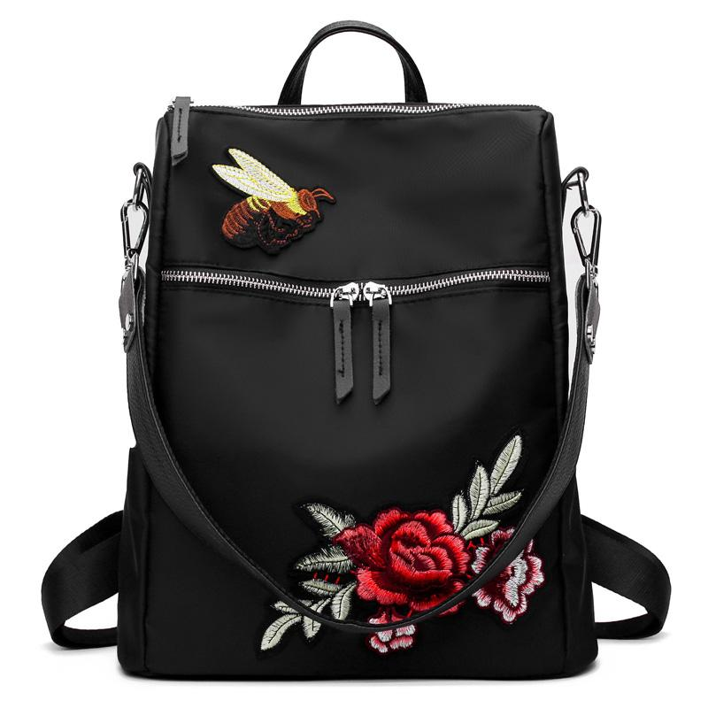 Oxford New Style Floral Backpack Shopping
