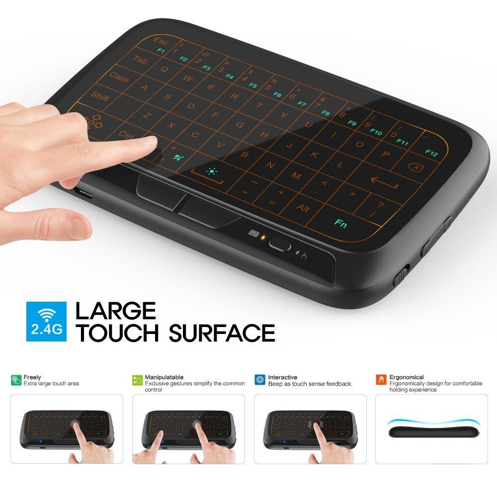 Leegoal Backlight H18 Touch Keyboard Mini Keyboard Air Mouse Full Screen Touchpad Coupon Code