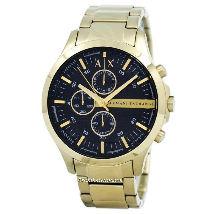 Armani Exchange Quartz Chronograph Men S Gold Tone Stainless Steel Bracelet Watch Ax2137 Price Comparison