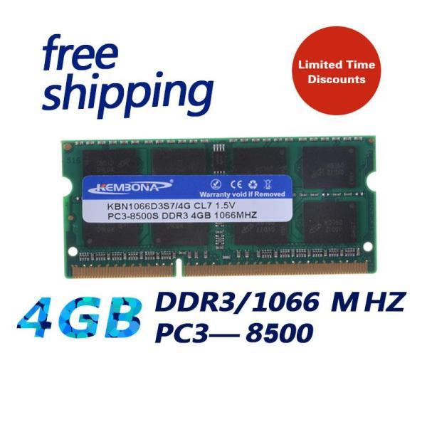 Giá Kembona Nút Bịt Mới Nguyên DDR3 1066/ PC3 8500 4GB Bộ Nhớ RAM Máy Tính Xách Tay Tương Thích Với Tất Cả Bo Mạch Chủ/Miễn Phí Vận Chuyển!!!